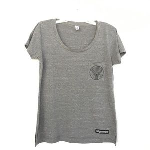 Jagermeister T Shirt  Womens  M Gray Short Sleeve